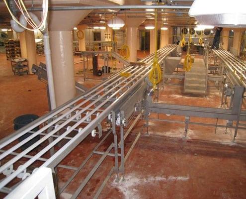 stainless steel sanitary conveyor