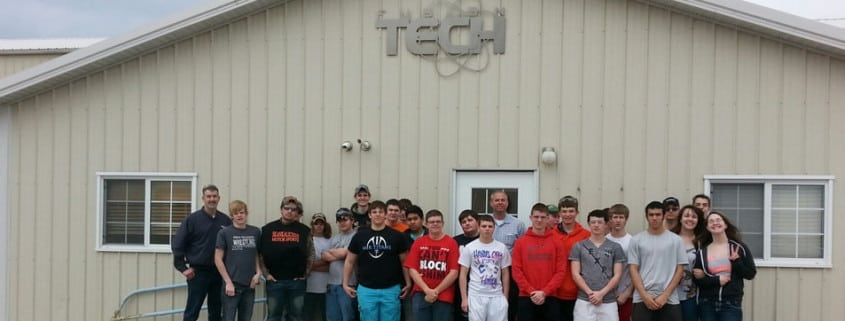 monmouth roseville HS visits Fusion Tech