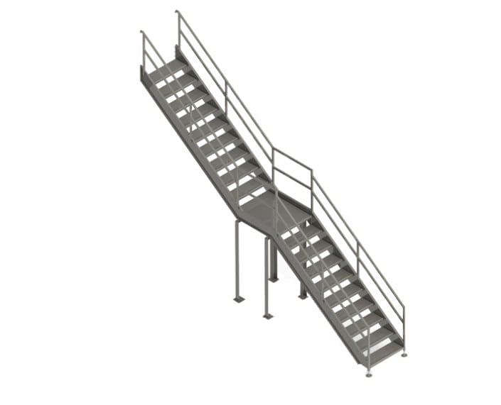A-02942 18 stairs landing