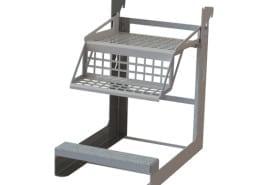custom ergonomic stands with step