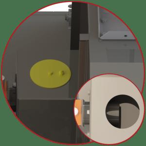 oven burner port