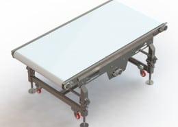 adjusting leg straight conveyor