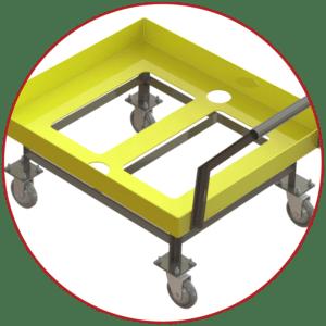 A-10879 tote cart platform