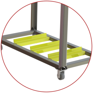 A-12168 screen wash cart anti slip bars