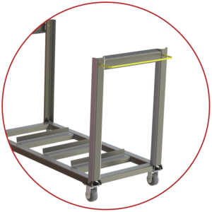 A-12168 screen wash cart handles