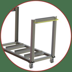 A-12168 screen wash cart handles