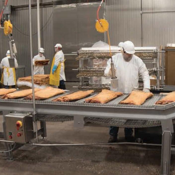 Farming Uk Meat Processing News: Pork Belly Press & Pump