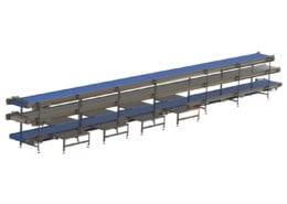 8.007 3 tier pack off conveyor