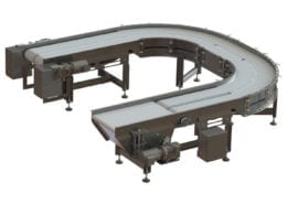 A-11363 dual lane radius conveyors